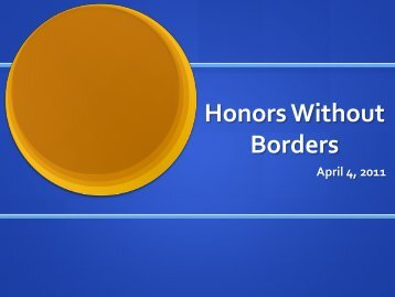 Honors Without Borders