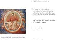 Arenakapelle Teil II - KIT - IKB - Fachgebiet Kunstgeschichte