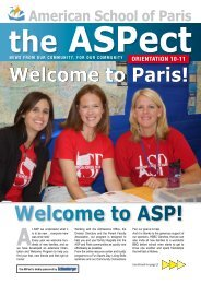 Welcome to Paris! Welcome to ASP! - American School of Paris