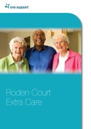 Roden Court extra care - One Housing Group