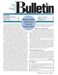 Ulletin - Human Factors and Ergonomics Society