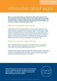 information about sugar - Australian Diabetes Council