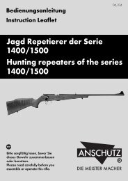 Jagd Repetierer der Serie 1400/1500 Hunting repeaters of the ...