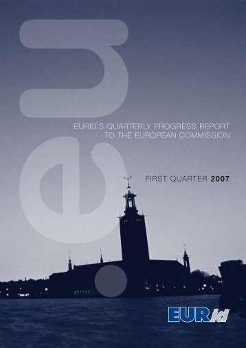 euridls quarterly progress report to the european commission first ...