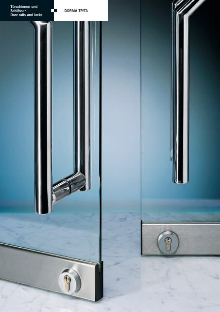 Technischer Prospekt - DORMA Interior Glas