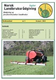 Nr 3 - 16. mars - Norsk Landbruksrådgiving Agder