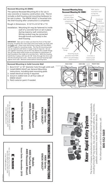 4400 Series Mounting Instructions - Knox Box