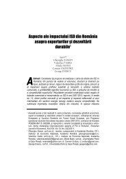 Aspecte ale impactului ISD din România asupra exporturilor şi ...