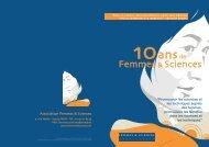 Livret - Association Femmes & Sciences
