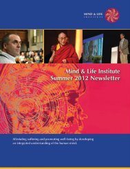 Download the Summer 2012 Newsletter as a PDF - Mind & Life ...