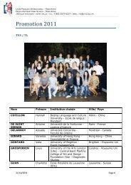 Promotion 2011 - Lycée français international Victor Segalen