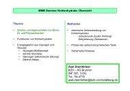 MMB Seminar Kohlenhydrate - ZMBH