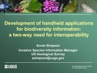 Development of Handheld Applications for Biodiversity Information