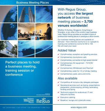 Perfect places to hold a business meeting, training session or ...