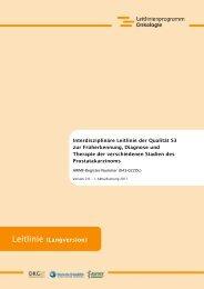 S3-Leitlinie Prostatakarzinom - AWMF