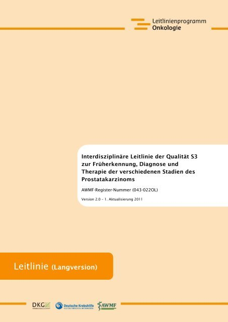 prostatitis therapie leitlinie