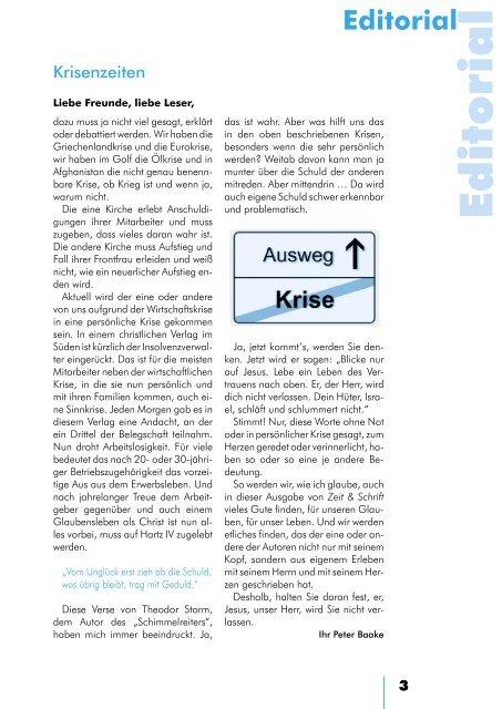 Heft 3/2010 - Zeit & Schrift