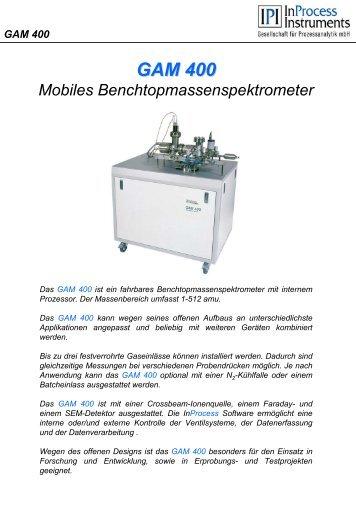 GAM 400 Anwendungsbeispiel Trennung von Deuterium und Helium