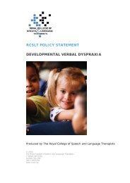 rcslt, 2011 - Caroline Bowen Speech-Language Therapy dot com