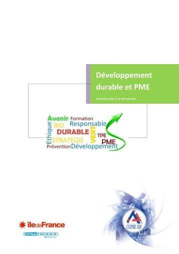 Développement durable et PME - CGPME Paris Ile de France
