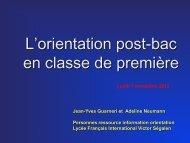 Présentation du 07 novembre 2012 - Lycée français international ...