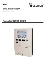 Regulator SCC30, SCC40 - Seltron