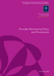 Provider Monitoring Policy and Procedures (2010) - HETAC
