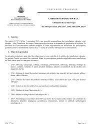 Cahier des charges 3ème lot - Direction de l'environnement de la ...