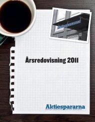 Årsredovisning 2011 - Aktiespararna