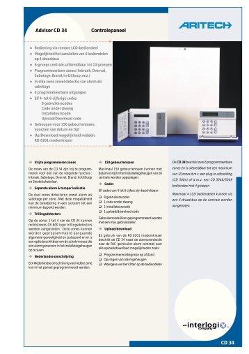 CD 34 Advisor CD 34 Controlepaneel - De Beveiligingswinkel