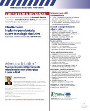 Il trattamento implanto-parodontale:nuove tecnologie ... - doctor smile