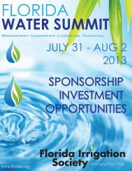 FIS Sponsorship Opportunities 7-2 REVISED - Florida Irrigation ...