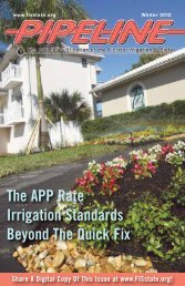 The APP Rate Irrigation Standards Beyond The Quick Fix - Florida ...