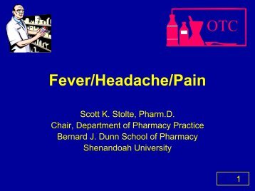 OTC Fever/Headache/Pain - Free CE Continuing Education online ...