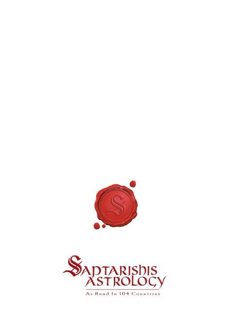 Savol8june2010wester Saptarishis Astrology This is your astrological outlook for love, job, and health. saptarishis astrology