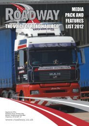 THE VOICE OF ROAD HAULAGE mEDIA pACk AnD FEATUREs ...