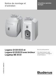 Notice de montage et d'entretien Logano G125 ECO et ... - Buderus