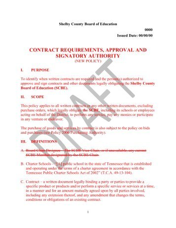 Board Action Memo Requirements For Contract Actions