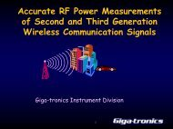Accurate RF Power Measurements of Second and ... - Giga-tronics