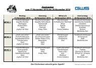 GWS Speiseplan für KW 47