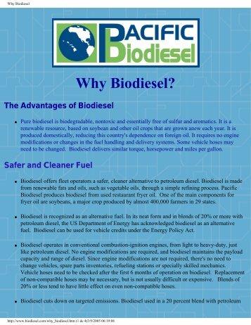 Why Biodiesel