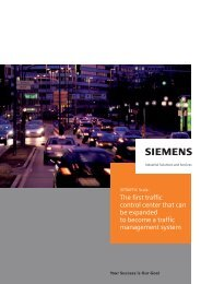 The first traffic control center that can be ... - Siemens Mobility