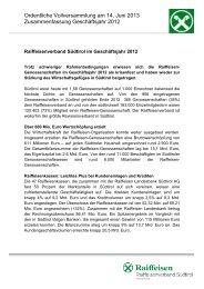 Alles rund um die Vorsorge: - Raiffeisenverband Südtirol