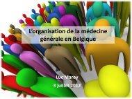 L'organisation de la médecine générale en Belgique - COOPAMI