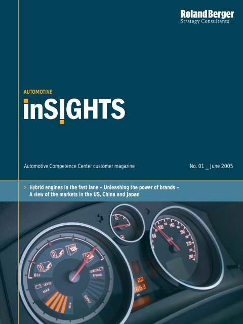Hybrid engines in the fast lane - Roland Berger Strategy Consultants
