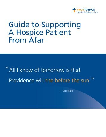 Supporting A Hospice Patient From Afar - Providence Washington