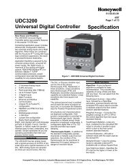 UDC3200 Universal Digital Controller Specification - Thermo-Kinetics