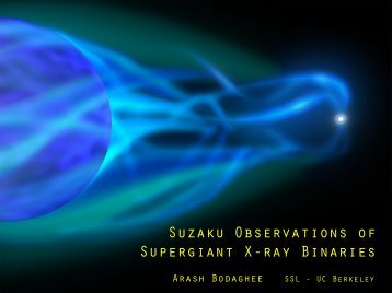 Suzaku Observations of Supergiant X-ray Binaries - HEASARC ...
