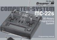 3D-Rotary Programming System - Graupner