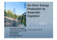 On-Farm Energy Production by Anaerobic Digestion